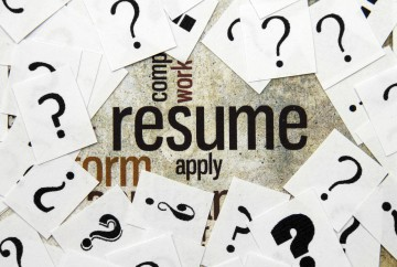 Resume and question marks